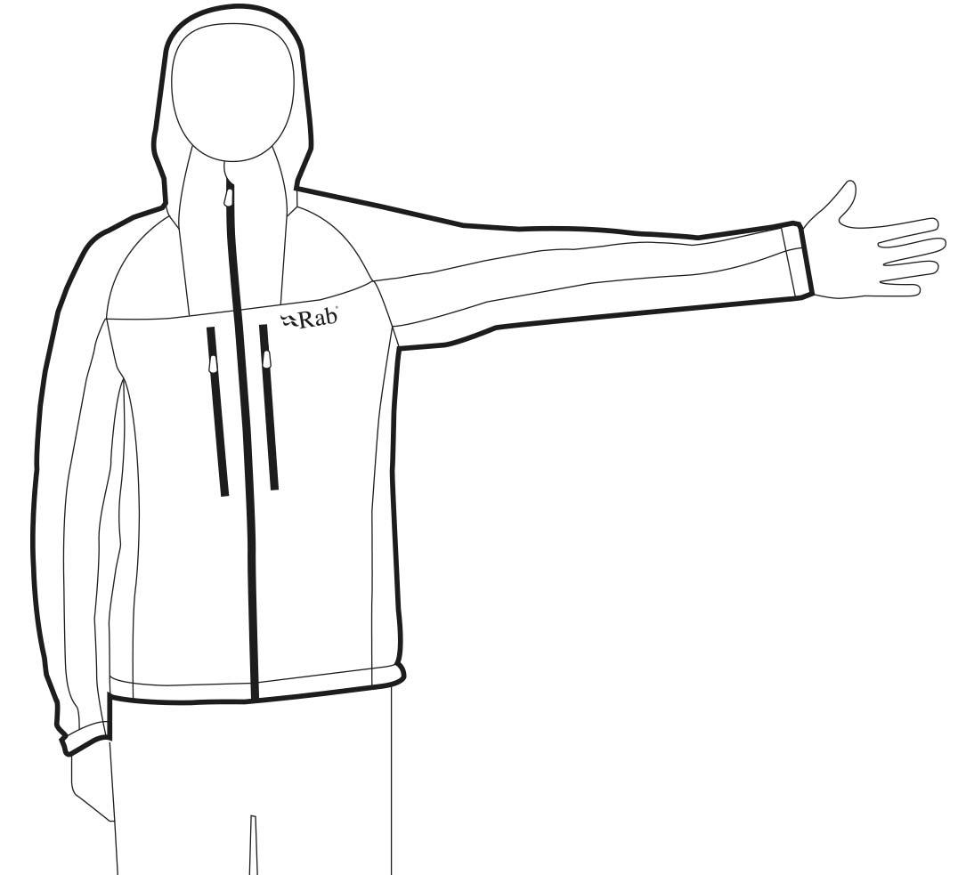 body measurement chart men